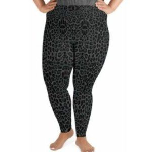 NEW Catherines Ponte Knit Gray Leopard LEGGINGS